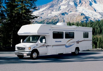 image of winnebago on mountain